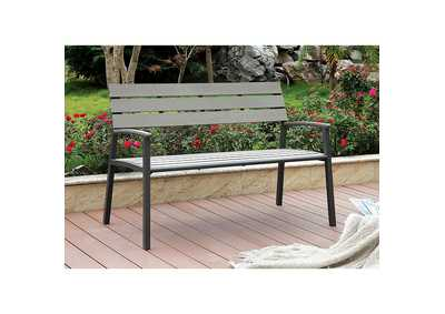 Image for Isha Oak Outdoor Bench