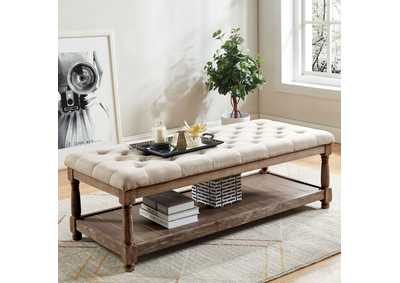 Tanya Beige Uhpolstered Bench