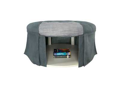 Claes Blue Storage Ottoman,Furniture of America