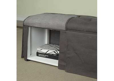 Kilrush Gray Storage Bench