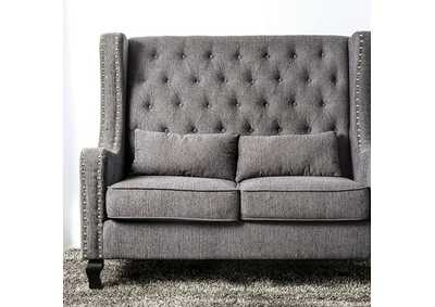 Image for Alicante Gray Loveseat Bench