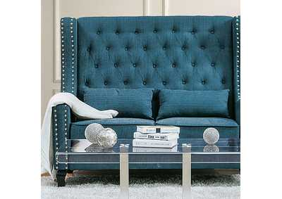 Image for Alicante Dark Teal Loveseat Bench