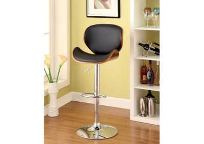 Image for Belo Leatherette Seat & Curved Back Swivel Barstool