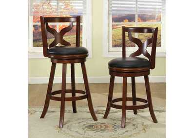 "Image for Baltic Dark Cherry 24""H Bar Stool"