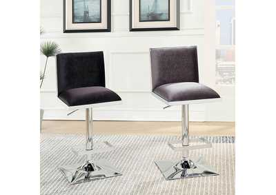 Image for Orjan Black Upholstered Swivel Bar Stool w/Adjustable Height