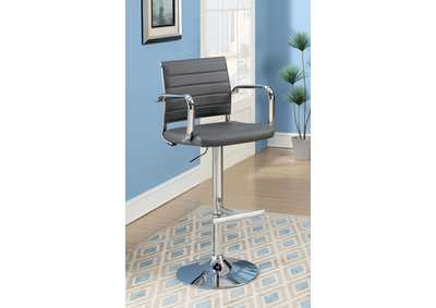 Image for Sedona Gray Leatherette Swivel Bar Stool w/Adjustable Height