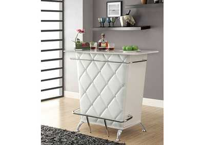 Image for Fuero White Bar Table