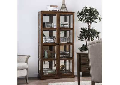 Image for Vilas Oak Curio Cabinet