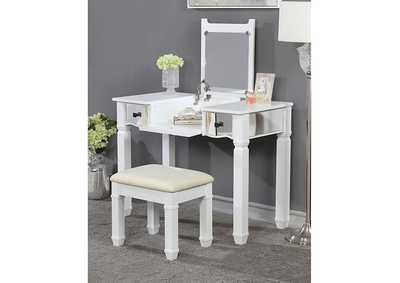 Jaylynn White Vanity Set,Furniture of America