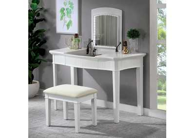 Image for Stina White Vanity w/Stool