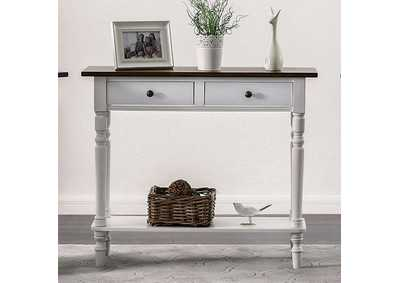 Calle White Server w/2 Drawers & Open Shelf