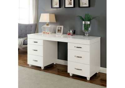 Image for Verviers White Vanity Desk