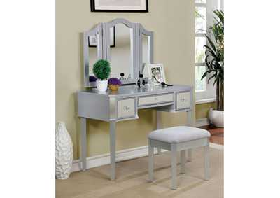 Image for Clarisse Silver Vanity w/ Stool