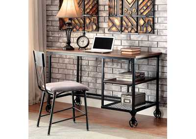 Image for Cori Antique Black Metal Writing Desk