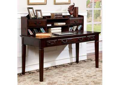 Image for Tami Dark Walnut Writing Desk w/Hutch