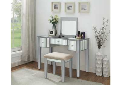 Image for Joyce Silver Vanity w/Stool