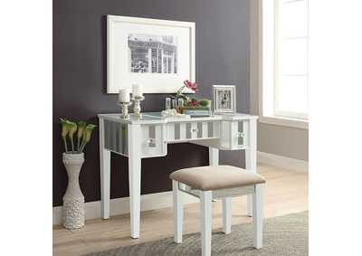 Image for Joyce White Vanity w/Stool