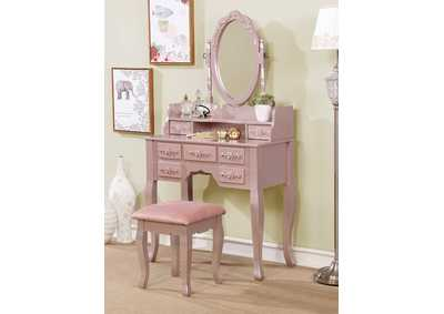 Harriet Rose Gold Vanity W/ Stool