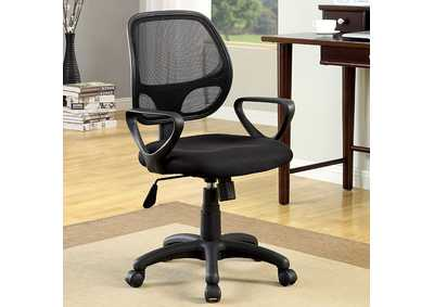 Image for Sherman Black Mesh Office Chair w/Adjustable Height