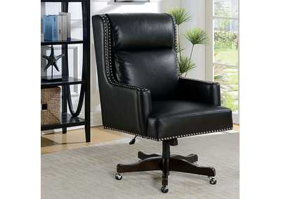 Image for Bonner Black Leatherette Office Chair w/Pneumatic Adjustable Height