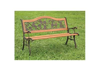 Image for Alba Brown Patio Bench