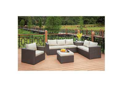 Image for Davina Brown/Beige Patio Sectional w/Ottoman