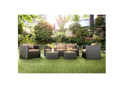 Olina Brown Patio Sofa Set