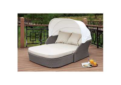 Image for Aida Gray/White Patio Canopy Daybed