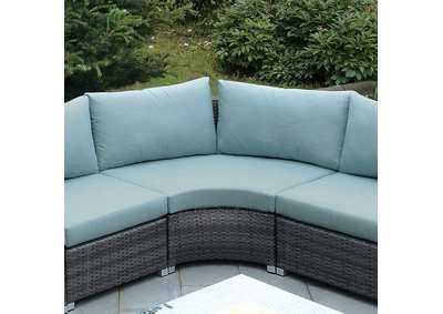 Morgana Blue Fabric Cushions Corner Chair
