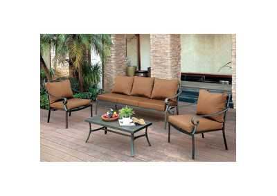 Image for Bonquesha Distressed Black Aluminum Patio Chair