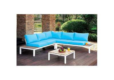 Image for Winona White Patio Sectional w/ Ottoman