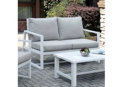 India Beige Patio Loveseat