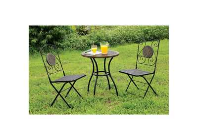 Image for Betim Black Metal Folding Chair (2/Box)