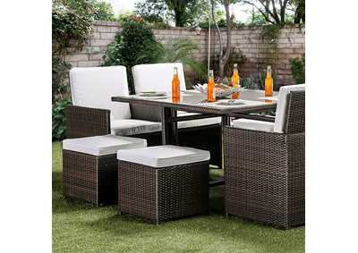 Image for Keisha White 9 Piece Patio Dining Set