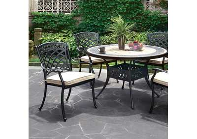 Image for Charissa Antique Black Round Patio Table