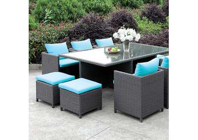 Image for Ashanti Brown 11 Piece Patio Dining Set