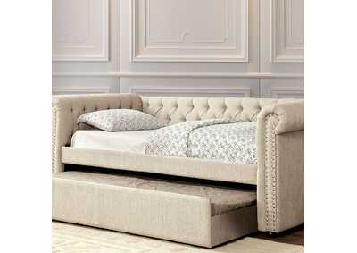 Image for Leanna Beige Full Daybed w/Trundle