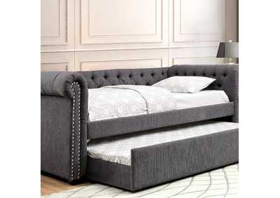 Image for Leanna Gray Queen Daybed w/Trundle