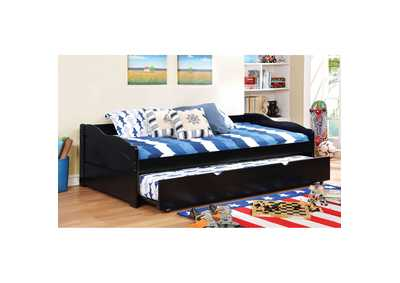 Image for Sunset Black Twin Daybed w/Trundle