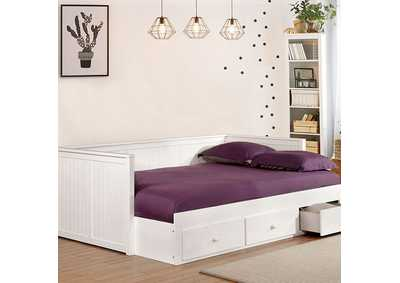 Image for Wolford White Full Daybed w/Storage