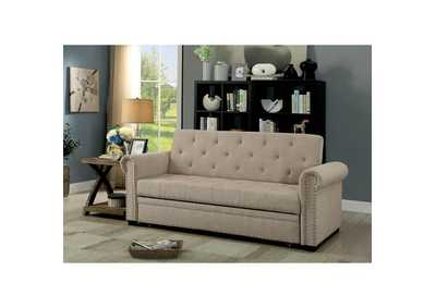 Image for Iona Beige Futon Sofa