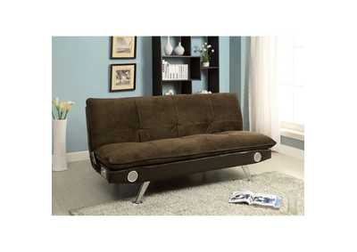 Image for Gallagher Brown Futon Sofa w/Bluetooth Speaker