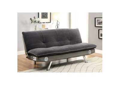 Image for Gallagher Gray Futon Sofa w/Bluetooth Speaker