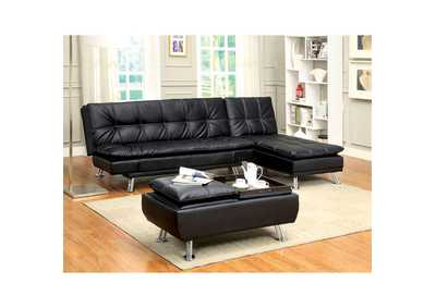 Image for Hauser Black Futon Sofa
