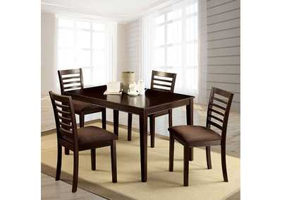 Image for Eaton Espresso 5 Piece Dining Table Set