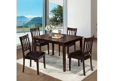 Image for West Creek I Espresso 5 Piece Dining Set
