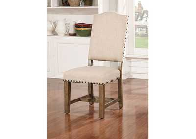 Julia Light Oak Side Chair (Set of 2),Furniture of America