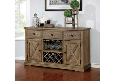 Julia Light Oak Server,Furniture of America