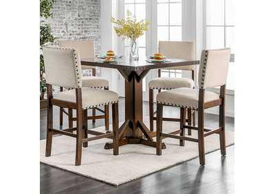 Glenbrook Brown Counter Table,Furniture of America