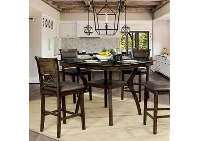 Image for Flick Rustic Oak Counter Height Table
